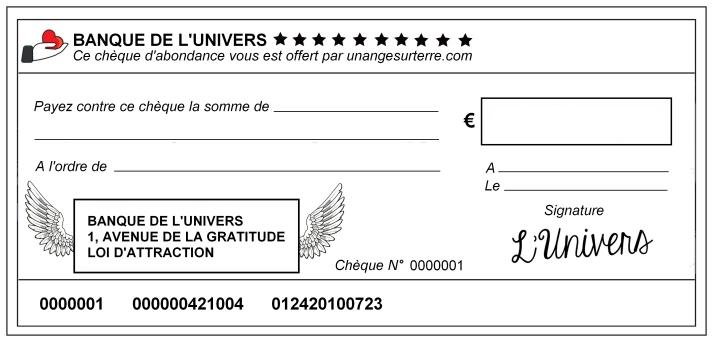 Chèque d'Abondance - unangesurterre