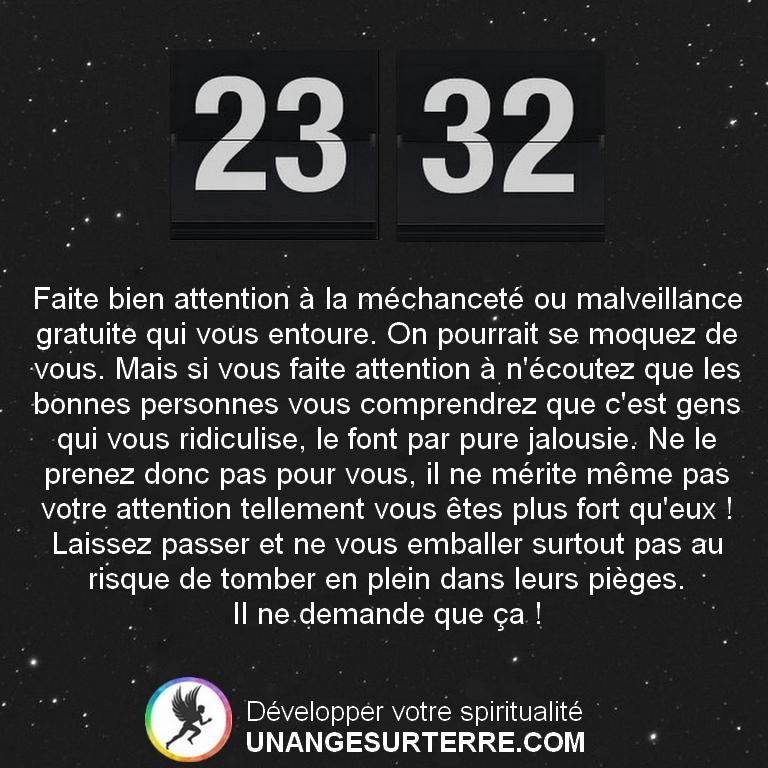 Signification Heure Miroir Inversées 23h32 (un ange sur terre - unangesurterre.com)