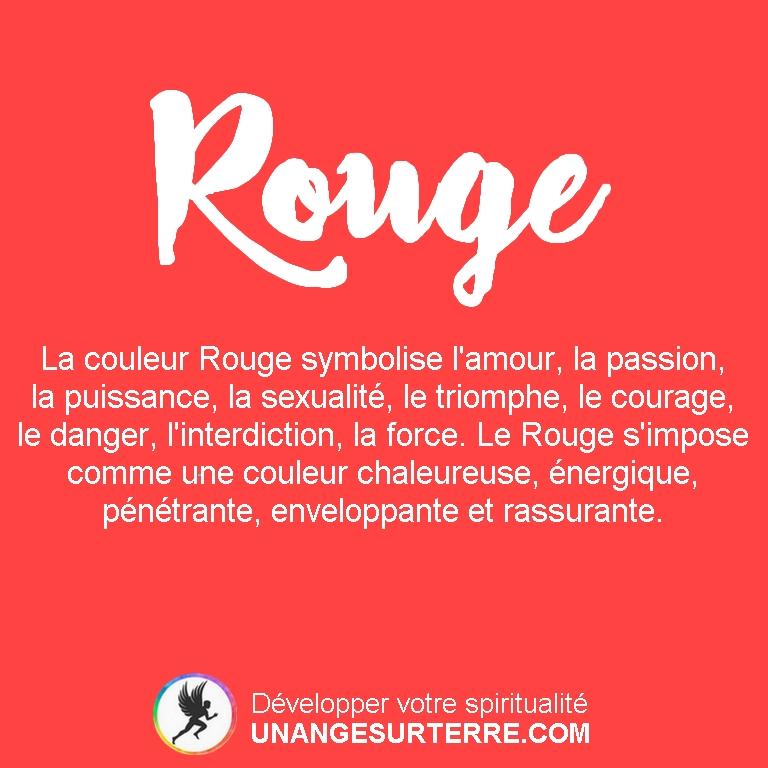 Signification Couleur Rouge (un ange sur terre - unangesurterre.com)