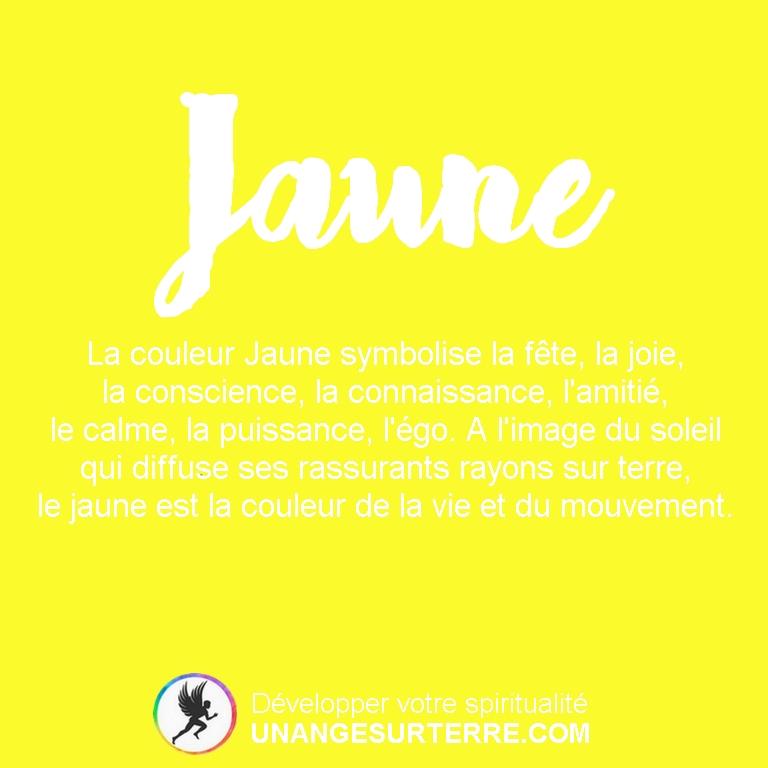 Signification Couleur Jaune (un ange sur terre - unangesurterre.com)