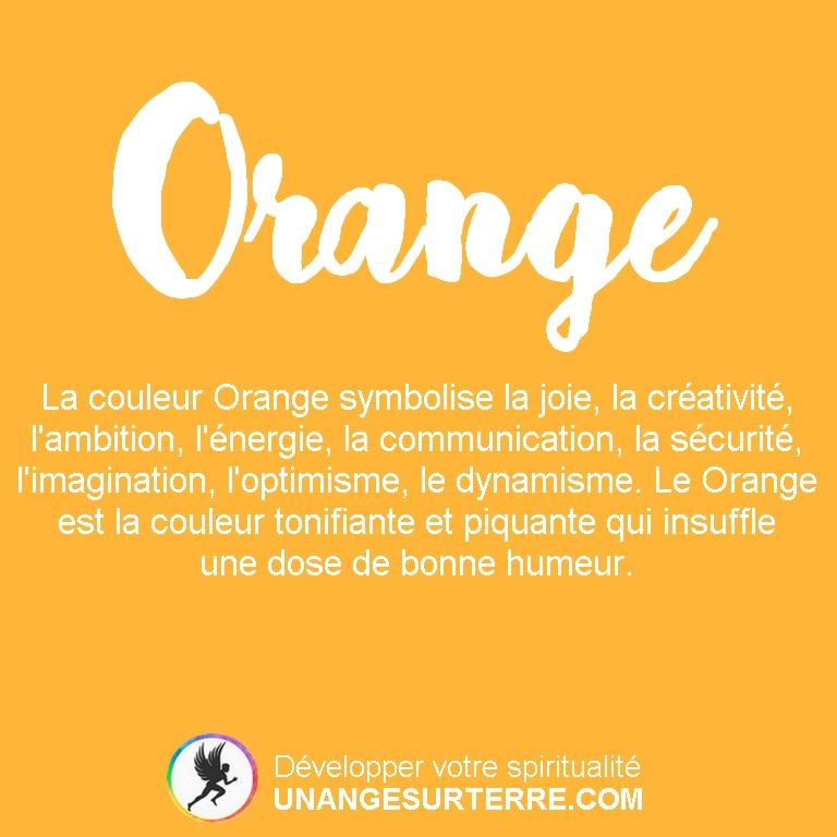 Signification Couleur Orange (un ange sur terre - unangesurterre.com)