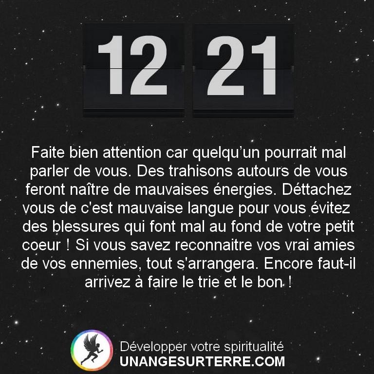 Signification Heure Miroir Inversées 12h21 (un ange sur terre - unangesurterre.com)